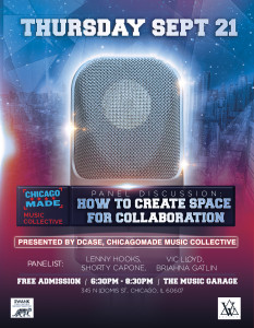 Swank PR Presents - CHICAGO MADE Panel Discussion How To Create Space for Collaboration presented by WeeGone Records
